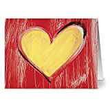 24 Note Cards - Sunny Valentine - Blank Cards - Red Envelopes Included