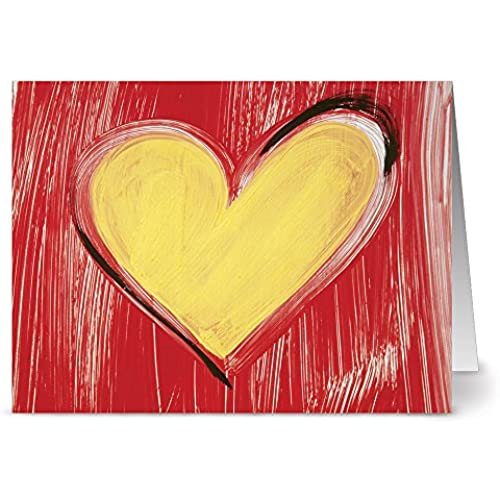 24 Note Cards - Sunny Valentine - Blank Cards - Red Envelopes Included Sales