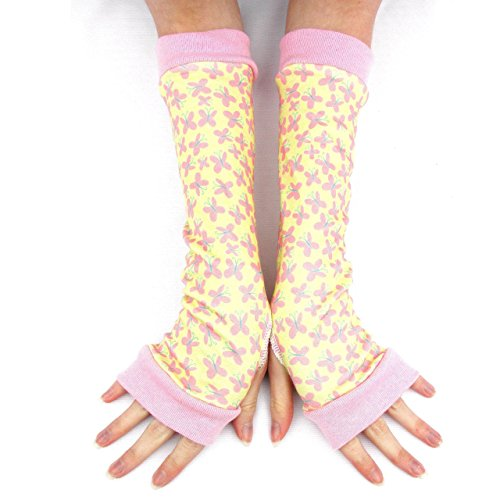Fluttershy pony yellow pink arm warmers gloves ()