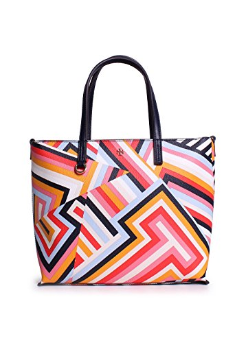 Tory Burch Kerrington Mini Square Tote In Cut Out T Print