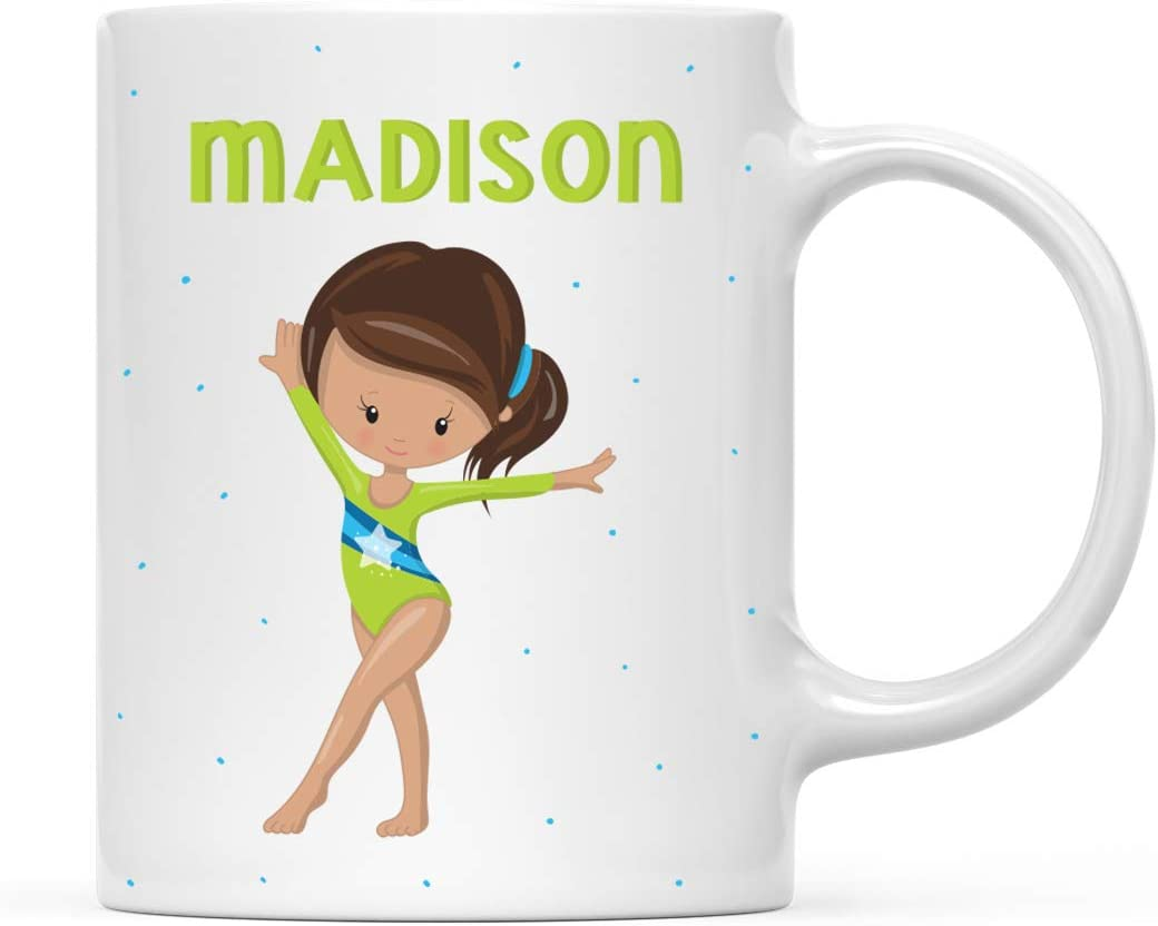 Personalised Gymnast Gifts For Girls And Ladies Personalised Female Gymnast Mug