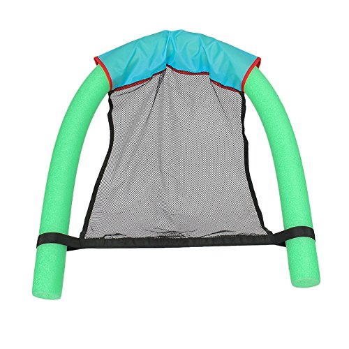 FAVOLOOK Noodle Sling Water Chair, Float Chairs for Adults Kids Teens Women Swimming Leisure Chaise Pool Floating Wave Mesh Seats Toys (Pool Wave Cover 7 Table)