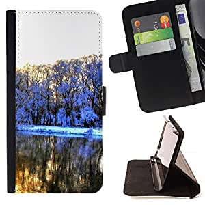 DEVIL CASE - FOR Samsung Galaxy A3 - Very beautiful snow - Style PU Leather Case Wallet Flip Stand Flap Closure Cover