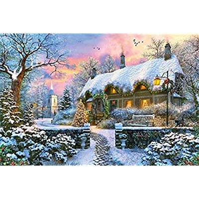 Premium Collection 18830 Whitesmiths Cottage In Winter Puzzle Da 1500 Pezzi Multicolore