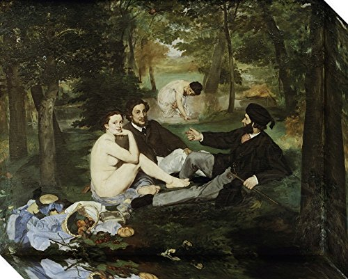 Canvas Art Gallery Wrap 'Luncheon on the Grass (Le Dejeuner sur l'Herbe)' by Edouard Manet