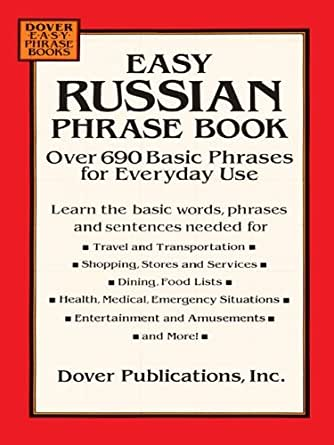 Easy Russian Phrase Book: Over 690 Basic Phrases for Everyday Use ...