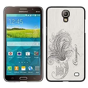 EJOY---Cubierta de la caja de protección para la piel dura ** Samsung Galaxy Mega 2 ** --La palabra vides