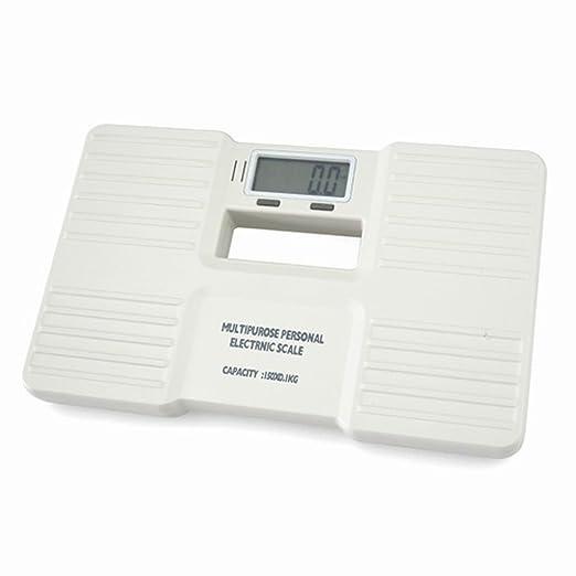 Plástico Personal saludable báscula de baño digital de precisión pantalla LCD retroiluminada de peso corporal 150 kg/0.1KG (negro o blanco, ...