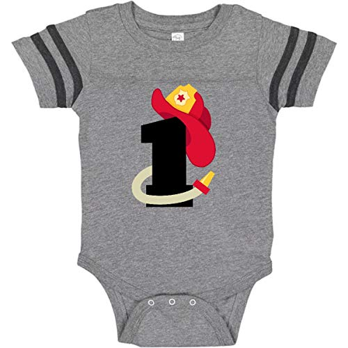 Infant Number Creeper (inktastic - Fireman Infant Creeper 12 Months Football Heather and Smoke 1d26f)