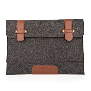 """Felt 15"""" Sleeve Case Bag Cover, Mosiso, for 15"""" MacBook Pro with Retina Display (No CD-Rom), Black"""