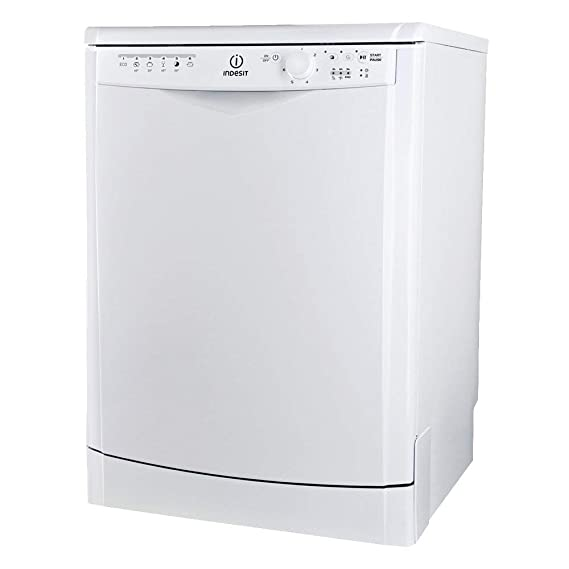 Indesit DFG 15B 10 EU - Lavavajilla clase energética A, A, A+, 51 Db, independiente, 5 programas, 2 temperaturas, color blanco