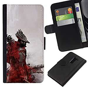 YiPhone /// Tirón de la caja Cartera de cuero con ranuras para tarjetas - Futuro pirata - LG G2 D800