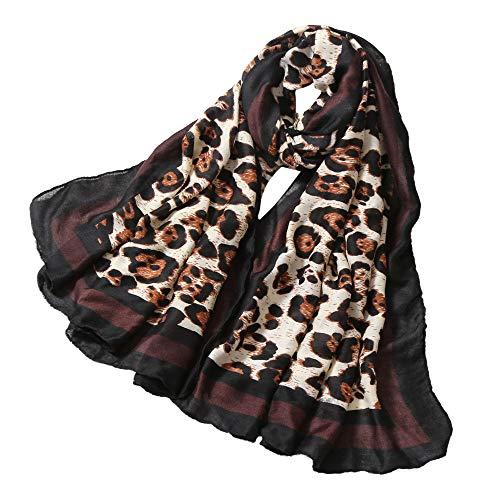 Sciarpa bicolore multicolor lana Sciarpa seta Piccola in Vogue Slim lungo Donna invernale fasciatura Angelof Stampata Sciarpe in C leopardata Sciarpe 5wxxUB