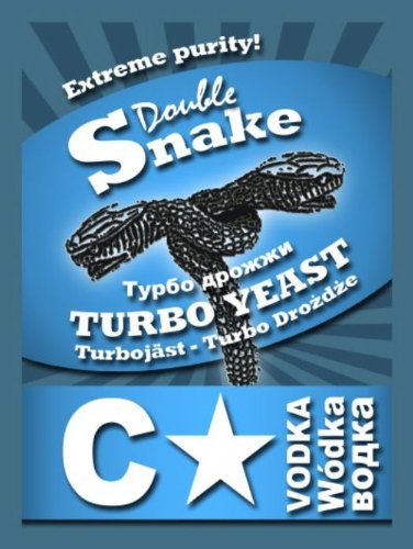 Amazon.com: 10x Double Snake C Star Turbo Yeast 25L Extreme Purity Homebrew Vodka Moonshine: Kitchen & Dining