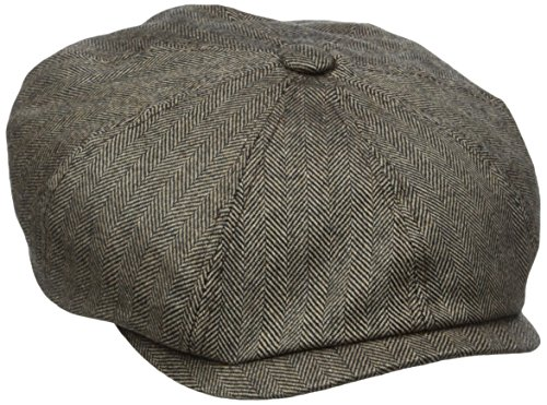 Stetson Men's Cashmere Blend 8/4 Cap with Silk Lining, Brown, Large