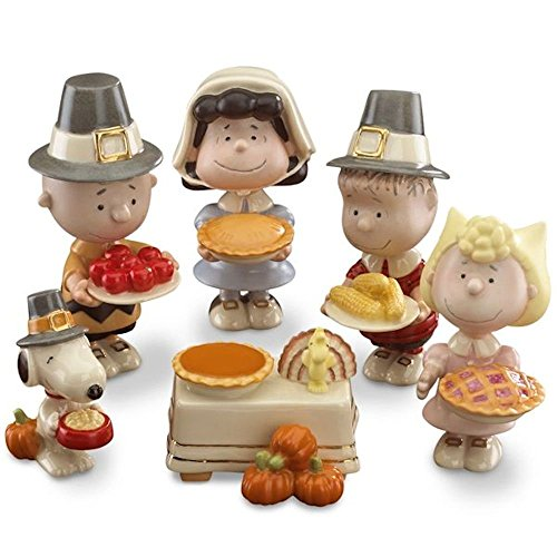 Lenox Peanuts Thanksgiving 6-piece Figurine Set 841131 NEW