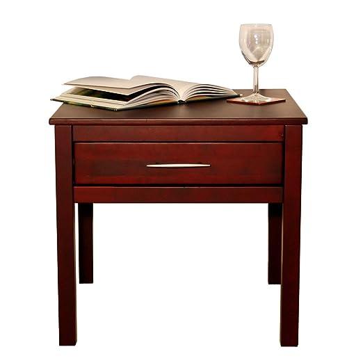 KYOTO -mesa auxiliar madera maciza - color wengue: Amazon.es: Hogar