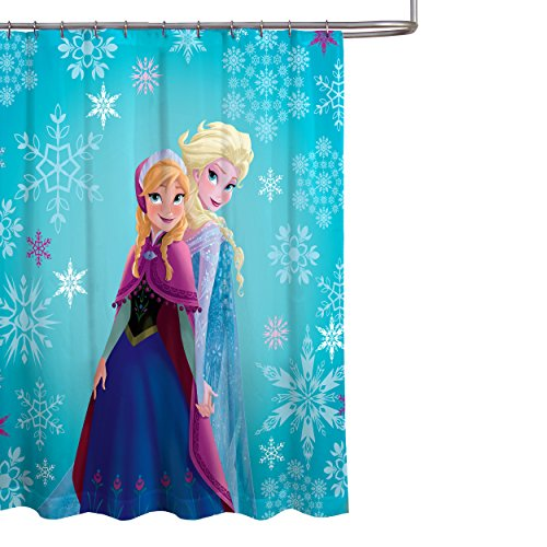 Disney Frozen Elsa and Anna Fabric Shower Curtain (Frozen Bathroom Disney)