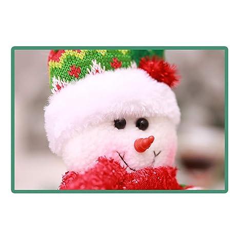 BESTOYARD Decoración de Navidad Caja de pañuelos Cubierta de Papel higiénico Soporte dispensador Redondo con muñeco de Nieve en Forma para el hogar baño y ...