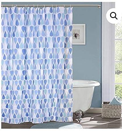 TIB® PVC Waterproof Designer 7 feet Shower Curtain (1 Pcs)