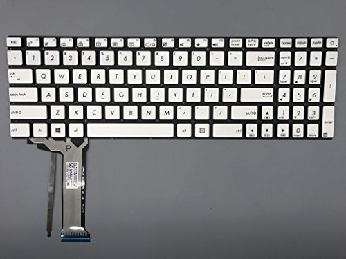 New Keyboard for ASUS N551 N551JB N551JK N551JM N551JN N551JW N551JX N551VW N551ZU N751 N751JK N751JK Notebook Computer US Layout Silver keycap, no Frame, with Backlight