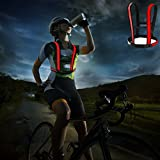 Lazy ants Bicycle Accessories Three LED Modes,Reflective Vest Waterproof,Biking Led vest(Red)