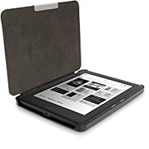 iGadgitz Black Slim PU Leather Shell Case Cover for Kobo Glo HD, Kobo Touch 2 with Sleep Wake & Magnetic Closure