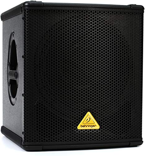 BEHRINGER B1200D-PRO High-Performance Active 500-Watt 12'' Pa Subwoofer with Built- in Stereo Crossover, Black by Behringer