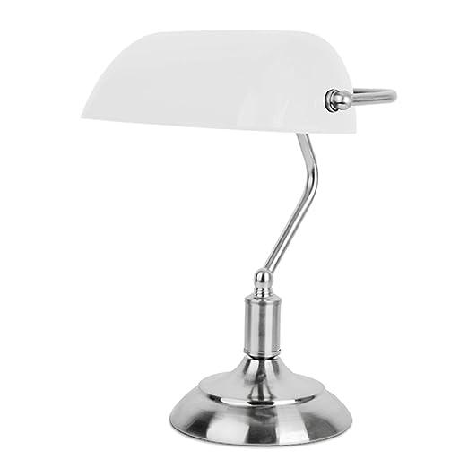 4 opinioni per MiniSun – Lampada da tavolo tradizionale con una finitura cromata e paralume di