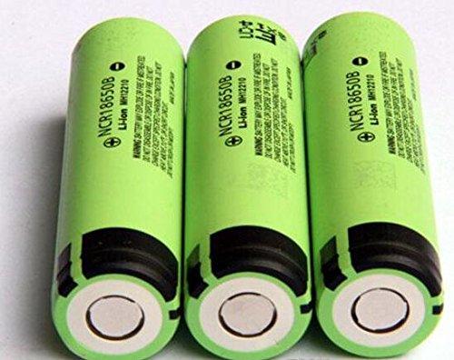 8 opinioni per Panasonic NCR18650B 6.7 a 3400mAh 18650 batteria (3 batterie- VIPERTECH custodia