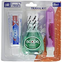 Dental Travel Kit - Crest Toothpaste - Scope - Toothbrush with Case