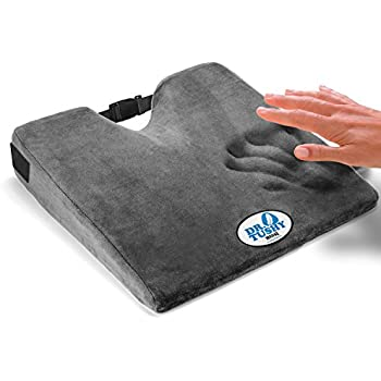 Wedge Cushion with Strap, Car Seat Wedge 3 INCH Thick Seat Cushion, BEST for Coccyx Support, Back, Hip, & Leg Pain, Memory Foam Seat Cushion by Dr. Tushy