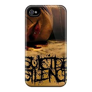 PhilHolmes Iphone 4/4s Protector Hard Cell-phone Case Customized Lifelike Suicide Silence Skin [CMI6938PQbB]