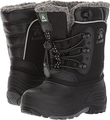 Kamik Boys' Luke Snow Boot, Black, 9 Medium US Toddler