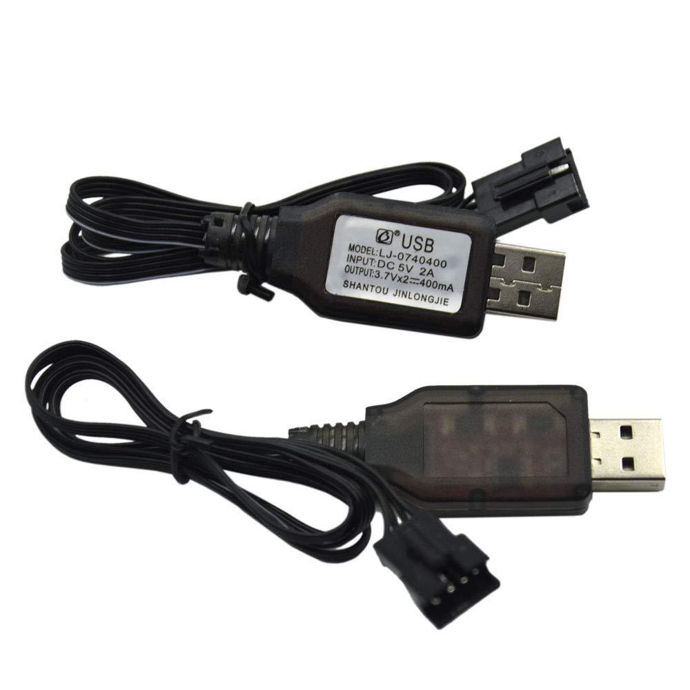 2 cables USB 3.7V 400mA con entrada SM-4P Plug
