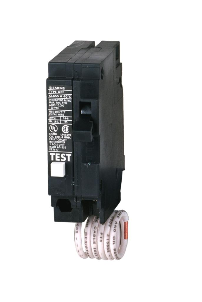 siemens qf220 20 amp 2 pole 240 volt ground fault circuit single pole gfci