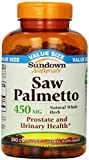 Sundown Saw Palmetto 450 mg Capsules 250 ea (Pack of 4)