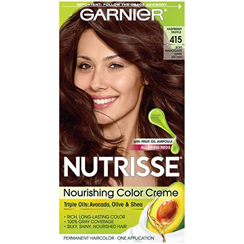 - Garnier Nutrisse Nourishing Hair Color Creme, 415 Soft Mahogany Dark Brown (Raspberry Truffle)  (Packaging May Vary)