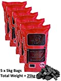 25kg Real Hardwood Lumpwood Charcoal For BBQ Barbecues