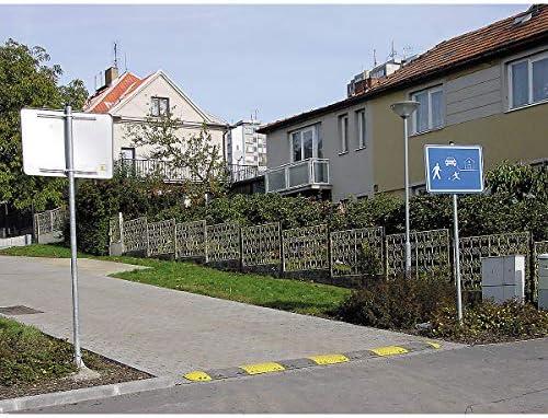 Certeo Fahrbahnschwelle Endstück   Schwarz   empf. Geschw. 10 km/h   Temposchwelle Bremsschwelle Straßenschwelle