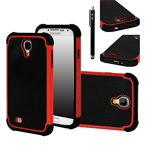 galaxy s4 red and black case - 3