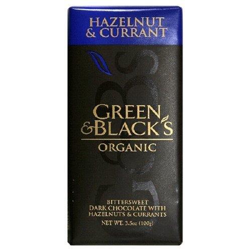 Green & Black's Organic Dark Chocolate Hazelnut and Currant 3.5oz, Pack of 10 ()