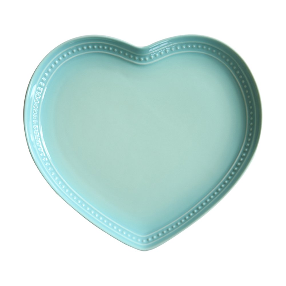 WAIT FLY Sweet Heart-shaped Ceramic Dinner Plates Dessert Plates Salad Bowls Soup Bowls Seasoning Dishes Best Kitchen Household Cooking Gifts for Home Kitchen