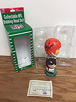 Paul Warfield Signed Autograph NFL Cleveland Browns TEI Bobblehead Bobble