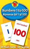 Carson Dellosa - Numbers 1 to 100 / Numeros 1 al 100 Flash Cards - ESL Bilingual Spanish Counting Cards for Kindergarten Toddlers and Kids, Ages 5+ (Brighter Child Flash Cards)