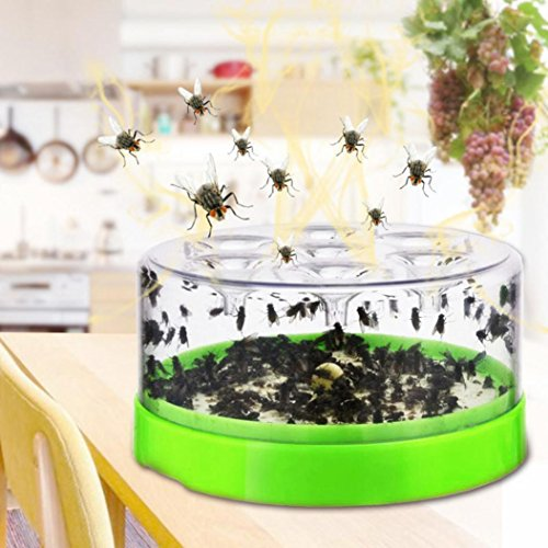 Inverlee Fly trap Pest Catcher Killer for Hotel Indoor Automatic Caught Fly Killer (A)