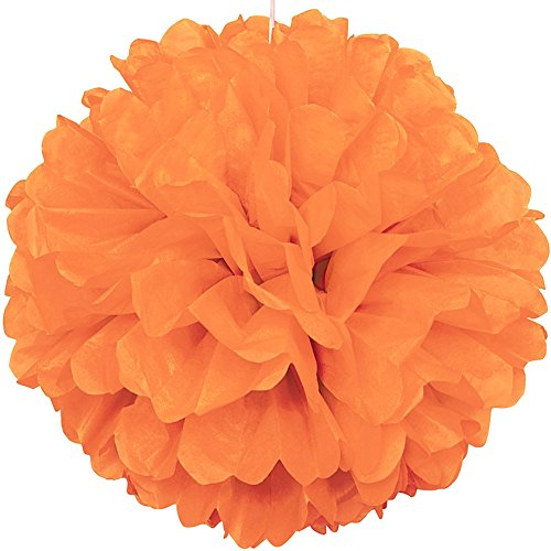 Lightingsky 10pcs DIY Decorative Tissue Paper Pom-poms Flowers Ball Perfect for Party Wedding Home Outdoor Decoration (6-inch Diameter, Orange 2)