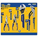 IRWIN Tools Long Nose, Slip Joint, Adjustable Wrench and Groove Joint ProPliers Set, 4-Piece (2078705)