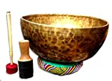 14'' D-chakra Master healing singing bowl,Meditation bowl,Tibetan Bowls, free singing bowl cushion,striker and drum stick.