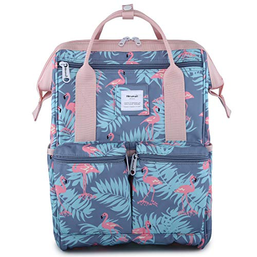 "Himawari Backpack/Waterproof School Backpack 17.7"" College Vintage Travel Bag for Women,Fits 15.6-17inch Laptop for Student"